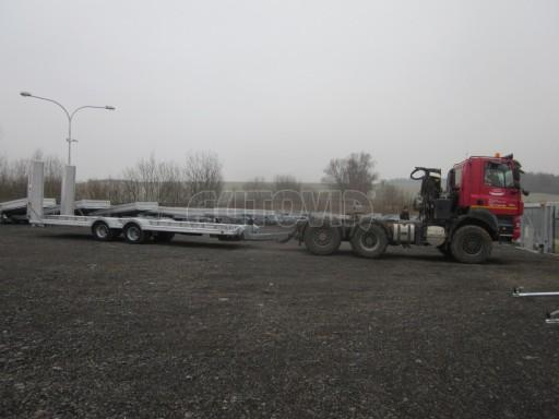 Vzduchem brzděné plato pro převoz traktorů AVG 18T 8,20x2,48 plato č.14