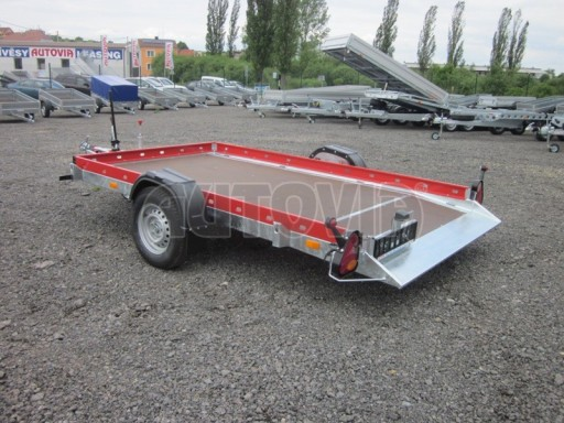 Hydraulicky sklopný přepravník HS 1,35T AL red 3,02x1,72/0,10* č.12