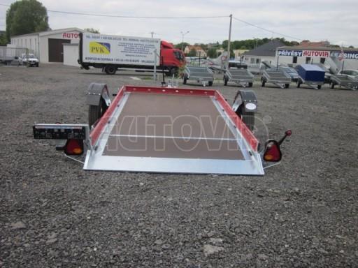 Hydraulicky sklopný přepravník HS 1,35T AL red 3,02x1,72/0,10* č.17