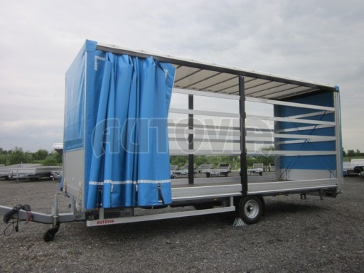 Jednonápravový vzduchem brzděný, nákladní přívěs AVG 5,45T 7,40x2,48/3,05 č.1