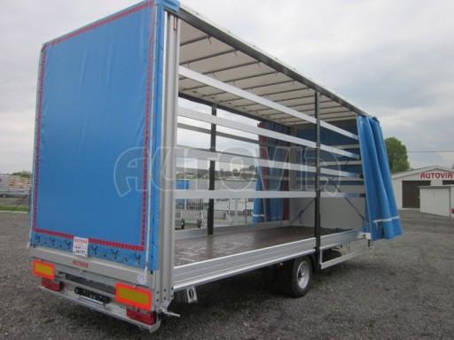 Jednonápravový vzduchem brzděný, nákladní přívěs AVG 5,45T 7,40x2,48/3,05 č.14