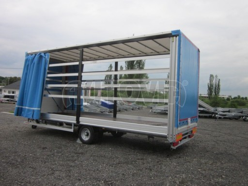 Jednonápravový vzduchem brzděný, nákladní přívěs AVG 5,45T 7,40x2,48/3,05 č.25