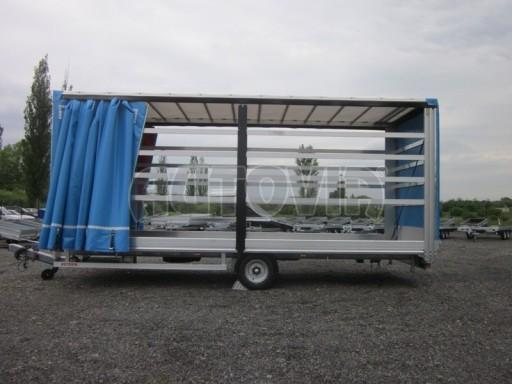 Jednonápravový vzduchem brzděný, nákladní přívěs AVG 5,45T 7,40x2,48/3,05 č.26