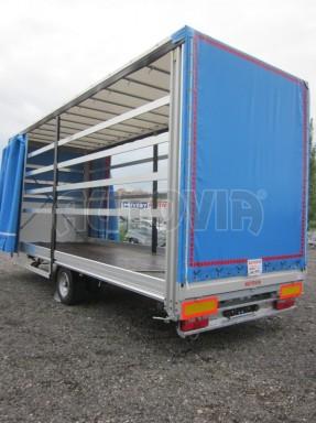 Jednonápravový vzduchem brzděný, nákladní přívěs AVG 5,45T 7,40x2,48/3,05 č.28
