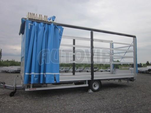Jednonápravový vzduchem brzděný, nákladní přívěs AVG 5,45T 7,40x2,48/3,05 č.32