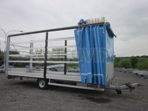 Jednonápravový vzduchem brzděný, nákladní přívěs AVG 5,45T 7,40x2,48/3,05 č.33