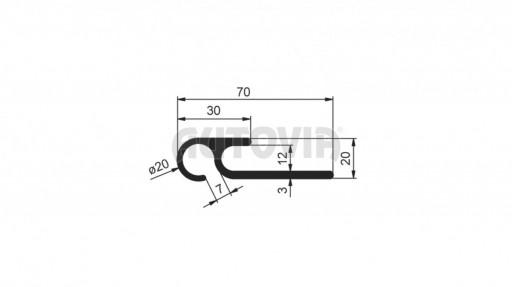 Zahakovací profil pro napínání plachty č.1