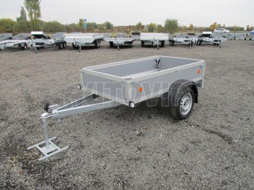 Levný přívěsný vozík s překližkovými bočnicemi ZV 3 EX 2,06x1,10/0,35** č.1