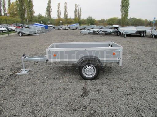 Levný přívěsný vozík s překližkovými bočnicemi ZV 3 EX 2,06x1,10/0,35** č.3