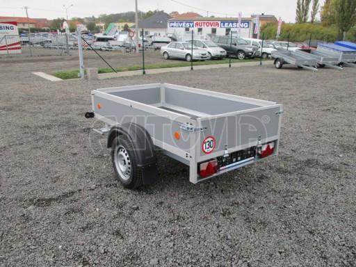Levný přívěsný vozík s překližkovými bočnicemi ZV 3 EX 2,06x1,10/0,35** č.4