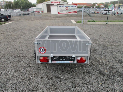 Levný přívěsný vozík s překližkovými bočnicemi ZV 3 EX 2,06x1,10/0,35** č.5