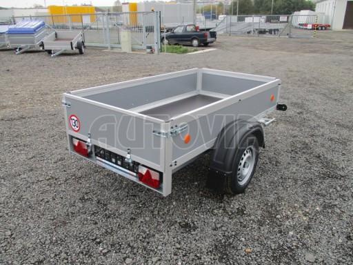 Levný přívěsný vozík s překližkovými bočnicemi ZV 3 EX 2,06x1,10/0,35** č.6