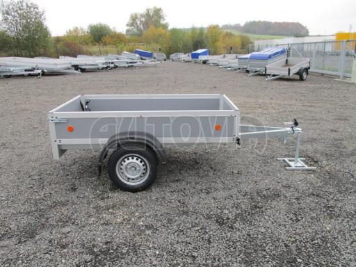 Levný přívěsný vozík s překližkovými bočnicemi ZV 3 EX 2,06x1,10/0,35** č.7