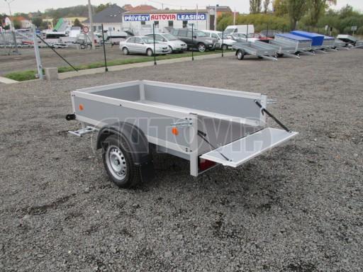 Levný přívěsný vozík s překližkovými bočnicemi ZV 3 EX 2,06x1,10/0,35** č.9