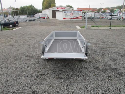 Levný přívěsný vozík s překližkovými bočnicemi ZV 3 EX 2,06x1,10/0,35** č.10