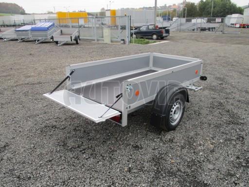Levný přívěsný vozík s překližkovými bočnicemi ZV 3 EX 2,06x1,10/0,35** č.11
