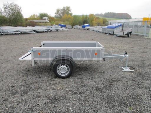 Levný přívěsný vozík s překližkovými bočnicemi ZV 3 EX 2,06x1,10/0,35** č.12