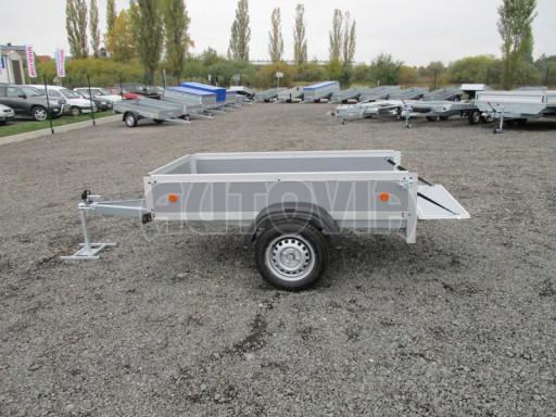 Levný přívěsný vozík s překližkovými bočnicemi ZV 3 EX 2,06x1,10/0,35** č.13
