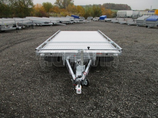 Přívěs pro převoz aut sklopné plato ALU - AD 3,5T 4,50x2,09* č.6