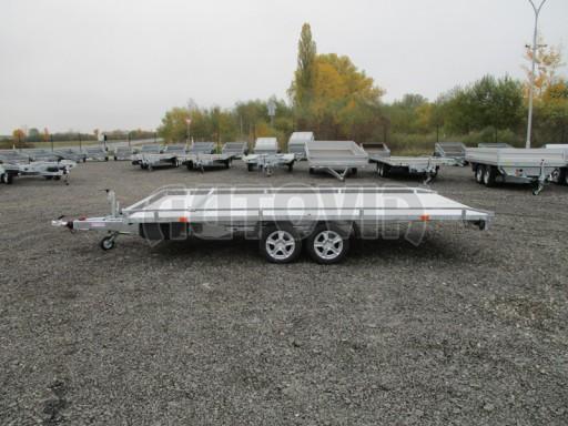 Přívěs pro převoz aut sklopné plato ALU - AD 3,5T 4,50x2,09* č.8
