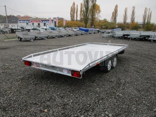 Přívěs pro převoz aut sklopné plato ALU - AD 3,5T 4,50x2,09* č.11