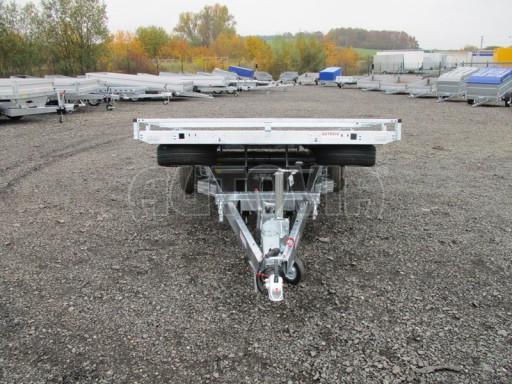 Přívěs pro převoz aut sklopné plato ALU - AD 3,5T 4,50x2,09* č.13