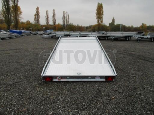 Přívěs pro převoz aut sklopné plato ALU - AD 3,5T 4,50x2,09* č.4