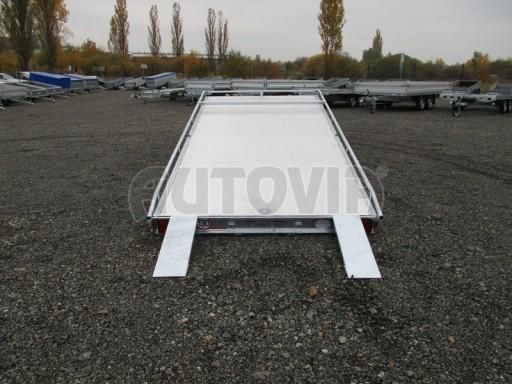 Přívěs pro převoz aut sklopné plato ALU - AD 3,5T 4,50x2,09* č.3