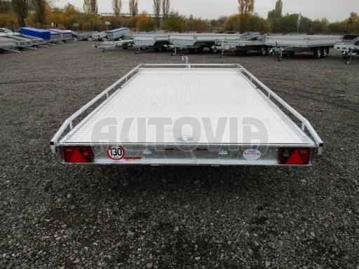 Přívěs pro převoz aut sklopné plato ALU - AD 3,5T 4,50x2,09* č.23