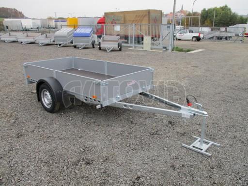 Přívěsný vozík profi PV 750kg N1 2,53x1,28/0,30 zesílená náprava č.1