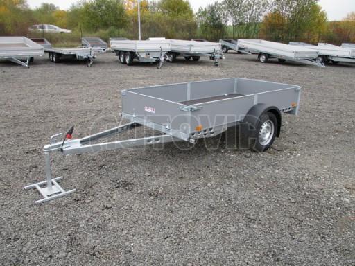 Přívěsný vozík profi PV 750kg N1 2,53x1,28/0,30 zesílená náprava č.3