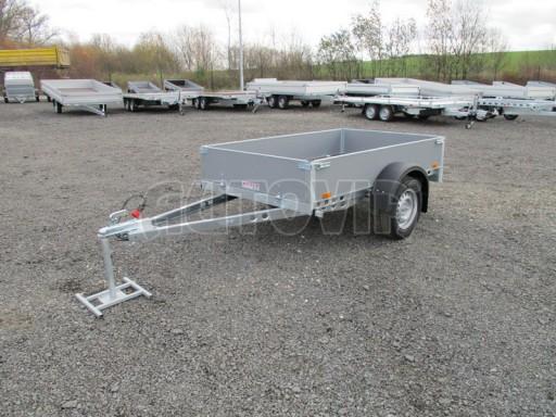 Přívěsný vozík za osobní auto PV 750kg N1 2,10x1,28/0,30 zes. náprava č.1