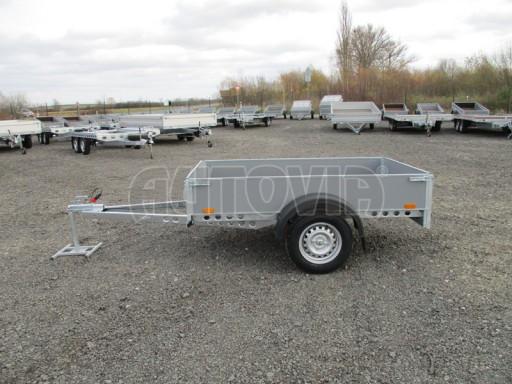 Přívěsný vozík za osobní auto PV 750kg N1 2,10x1,28/0,30 zes. náprava č.4