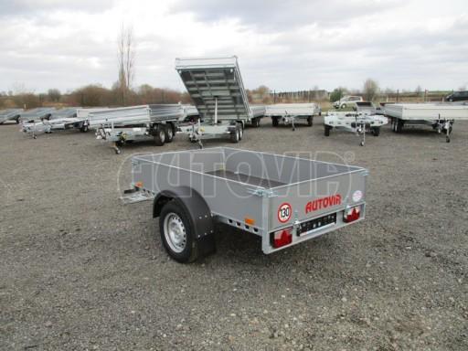 Přívěsný vozík za osobní auto PV 750kg N1 2,10x1,28/0,30 zes. náprava č.7