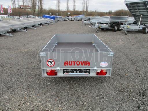 Přívěsný vozík za osobní auto PV 750kg N1 2,10x1,28/0,30 zes. náprava č.8