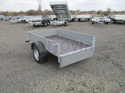 Přívěsný vozík za osobní auto PV 750kg N1 2,10x1,28/0,30 zes. náprava č.10