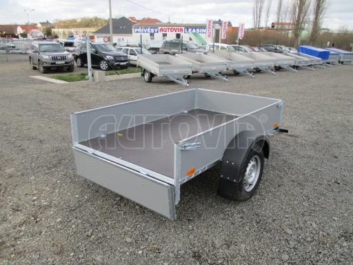 Přívěsný vozík za osobní auto PV 750kg N1 2,10x1,28/0,30 zes. náprava č.12