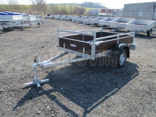 Nebrzděný jednoosý přívěs VA 750kg 2,06x1,27/0,30 zes. náprava č.4
