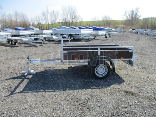 Nebrzděný jednoosý přívěs VA 750kg 2,06x1,27/0,30 zes. náprava č.6