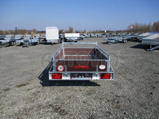 Nebrzděný jednoosý přívěs VA 750kg 2,06x1,27/0,30 zes. náprava č.8