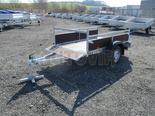 Nebrzděný jednoosý přívěs VA 750kg 2,06x1,27/0,30 zes. náprava č.2