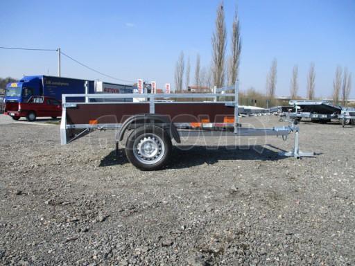 Nebrzděný jednoosý přívěs VA 750kg 2,06x1,27/0,30 zes. náprava č.5