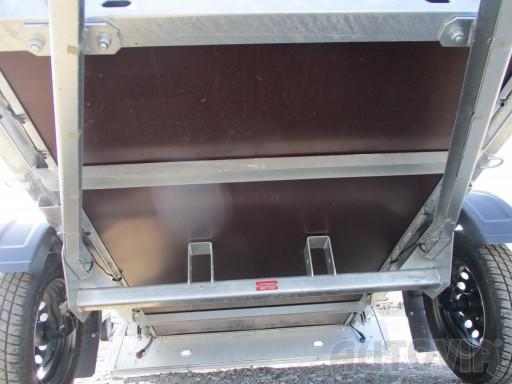 Nebrzděný jednoosý přívěs VA 750kg 2,06x1,27/0,30 zes. náprava č.3