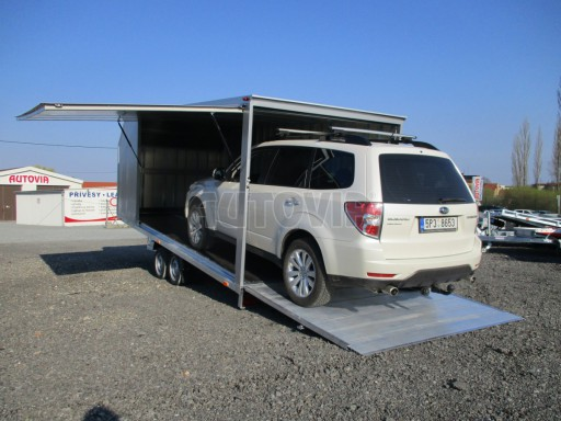 Skříňový přívěs pro přepravu automobilů NEW FM 3,0T 5,50x2,10/1,80 13