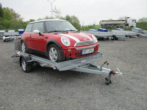 Sklopný přívěs pro přepravu mechanizace, automobilů PZ 1,5T SK 3,65x1,85 č.2