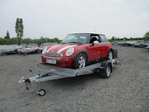Sklopný přívěs pro přepravu mechanizace, automobilů PZ 1,5T SK 3,65x1,85 č.8