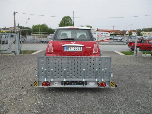 Sklopný přívěs pro přepravu mechanizace, automobilů PZ 1,5T SK 3,65x1,85 č.9