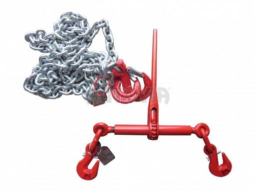 Kotvící řetěz s ráčnou 10mm 63kN 2m pozink č.1