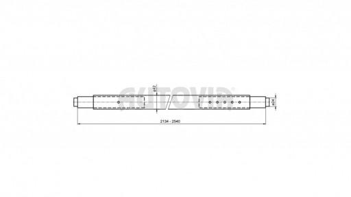 Rozpěrná tyč mezi lišty 2134-2540 Zn pr.24mm č.2