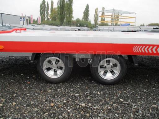 Přepravník automobilů s celohliníkovou ložnou plochou IM 2,7T 5,01x2,09 ALU č.4